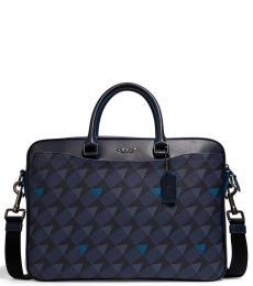 Coach Navy Beckett Slim Large Briefcase Bag