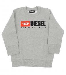 Diesel Baby Girls Grey Crewneck Sweatshirt