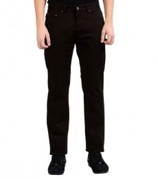 Brown Classic Straight Leg Jeans