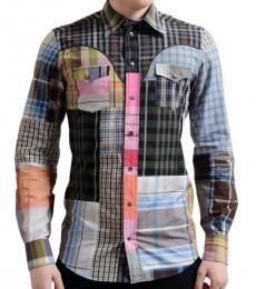 Dolce & Gabbana Multicolor Plaid Check Dress Shirt