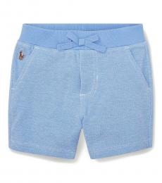 Ralph Lauren Baby Boys Harbor Island Blue Knit Oxford Shorts