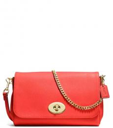 Orange Turnlock Small Shoulder Bag