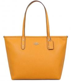 Coach Tangerine City Zip Large Tote