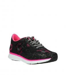 Black Fuchsia Glitter Sneakers