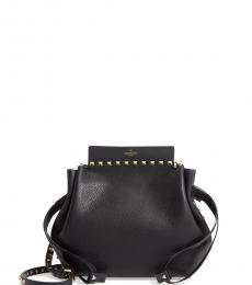 Black Studded Large Crossbody