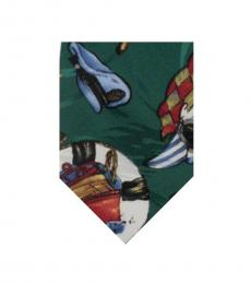 Green Abstract Print Tie