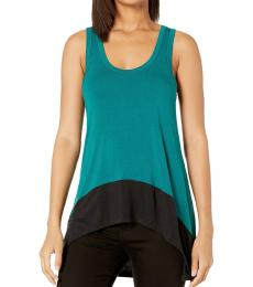 BCBGMaxazria Teal Knit Tank Top