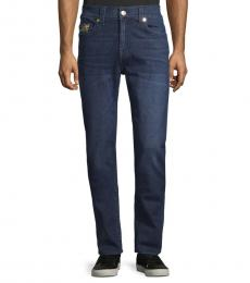 Blue Fresh Relaxed Skinny-Fit Jeans