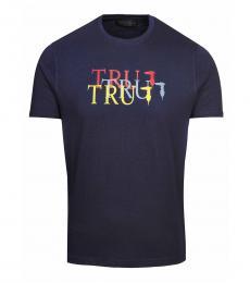 Trussardi Dark Blue Graphic Logo T-Shirt