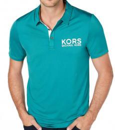 Michael Kors Jasper Green Sport Logo Polo