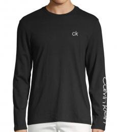 Calvin Klein Black Long-Sleeve Logo Sweatshirt