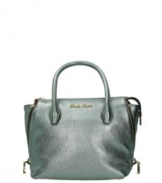 Miu Miu Silver Top Handle Mini Satchel