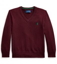 Ralph Lauren Little Boys Cherry V-Neck Sweater