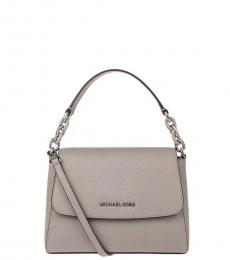 Pearl Grey Sofia Small Shoulder Bag