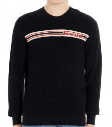 Navy Blue Logo stripe sweater