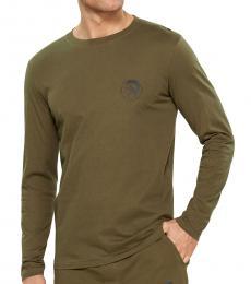 Diesel Olive Night Long Sleeve Logo T-Shirt