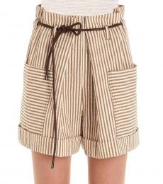 Brunello Cucinelli Multi color Belted Shorts