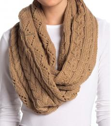 Michael Kors Camel Cable Infinity Scarf