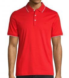 Michael Kors Summer Red Short-Sleeve Polo