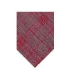 Calvin Klein Red Plaid Tie