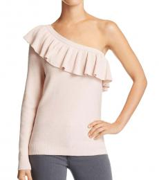 Rebecca Minkoff Light Pink Stacey Ruffle One Shoulder