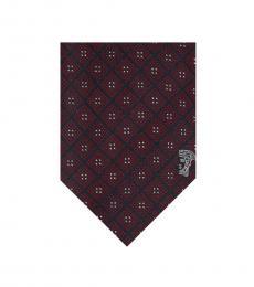 Versace Bordeaux Printed Tie