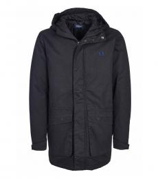 Fred Perry Black Solid Logo Jacket