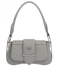 Prada Grey Sidonie Small Shoulder Bag
