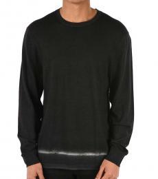 Neil Barrett Dark Grey Bleached Crewneck Sweater