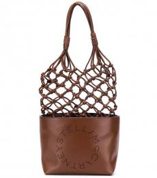 Brown Woven Large Tote
