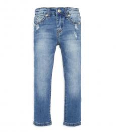 7 For All Mankind Little Girls Barrier Distressed Jeans