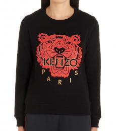 Kenzo Black Cotton Logo Sweatshirt
