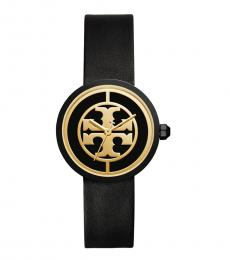 Tory Burch Black-Gold Reva Watch