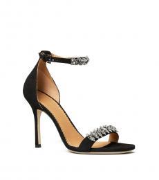 Tory Burch Black Penelope Embellished Heels