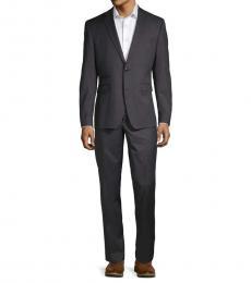 Vince Camuto Black Windowpane Slim-Fit Suit