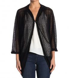 Vince Camuto Black Knit Cocoon Cardigan