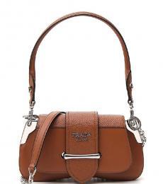 Prada Brown Sidonie Small Shoulder Bag