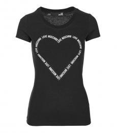 Love Moschino Black Classic Logo Tee