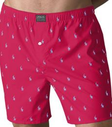 Red Hanging Woven Boxers