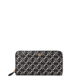 Ralph Lauren Black Zip Continental Wallet