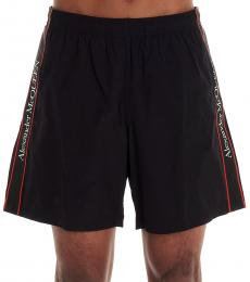 Alexander McQueen Black Band Logo Beachwear