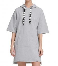 Light Grey Hoodie Sneaker Dress