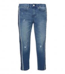 Calvin Klein Little Girls Blue Distressed Jeans
