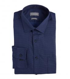 Michael Kors Navy Broken Line Dress Shirt