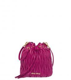 Miu Miu Dahlia Matelasse Mini Bucket Bag