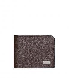 Calvin Klein Dark Brown Bifold Coin Pouch Wallet