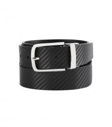 Calvin Klein Black Reversible Flat-Strap Belt