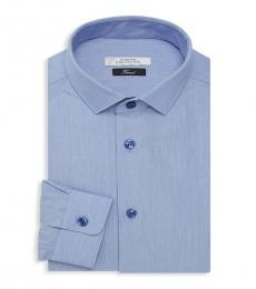 Versace Collection Blue Trend-Fit Dress Shirt
