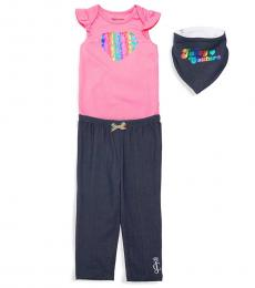 Juicy Couture 3 Piece Bodysuit/Pants/Bib Set (Baby Girls)