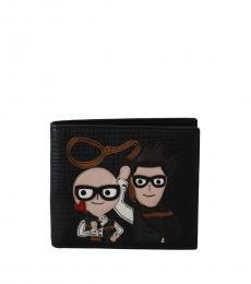 Dolce & Gabbana Black Cowboys Wallet